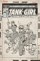 Wonderful World of Tank Girl Issue 1 Variant Cover by blitzcadet