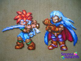 Chrono and Magus Bead Sprite by SerenaAzureth
