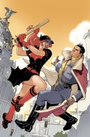 Bombshells United 11 Cover by TerryDodson