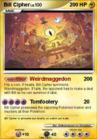 Bill Cipher Fakemon Card by enderponyayxx