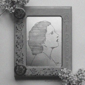 Kay Francis Portrait Antique Etch A Sketch by bryanetch