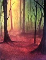Pan forest by LuciferArcadia