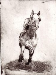 Drypoint Etching by Anamaere