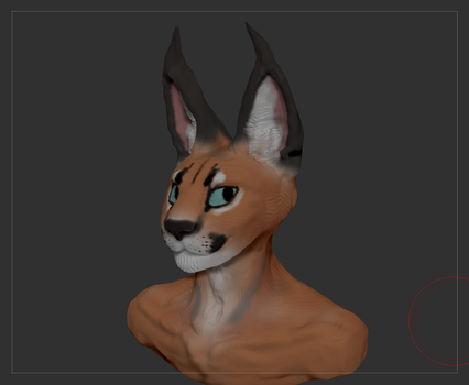 Caracal ZBrush Experiment by TitusWeiss
