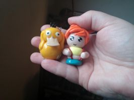 Misty and Psyduck charms (Video Tutorial: Psyduck)