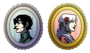 Cameo Stickers by Caden13