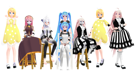 MMD Model Pack: TDA Robot and Doll Models by K-Manoc1