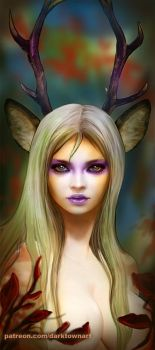 Deer girl by ZombieSandwich