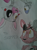 Mangle x Foxy by PegasisterofWizardry
