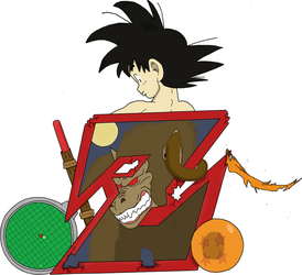 Goku Tribute Colored by inuy21