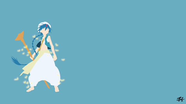 Aladdin (Magi) Minimalist Wallpaper by slezzy7