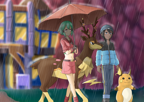In the Rain by BlueMageDanny