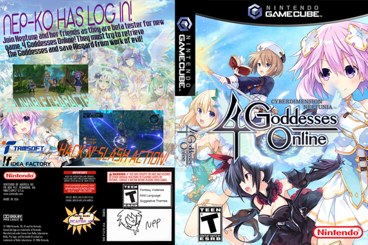 4 Goddesses Online but on GameCube by 38Caution-MK2
