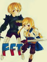 FFT - Ramza and Agrias by moondazzle