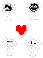 Flowey 4 Set by Dupliblaze