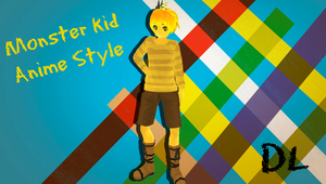 MMD Undertale Monster kid Anime Style (DL) by Foxvinny-art
