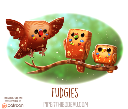Daily Paint 1613. Fudgies by Cryptid-Creations