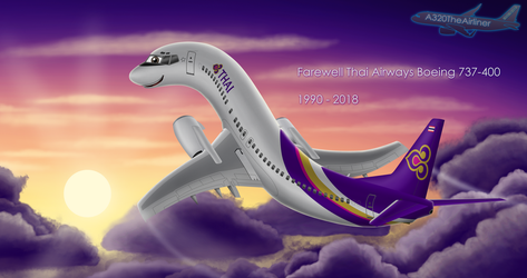 Farewell TG 737-400 by A320TheAirliner