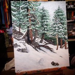 Snowing at Mount Baldy by grammabeth