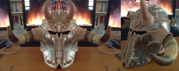 Chaos Armour WIP 11 - Tzeentchy Warrior Helm by Tiwyll