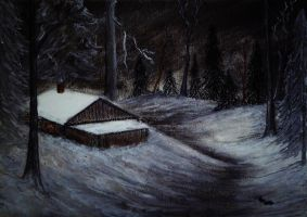 Winter Night (charcoal) by AlexandraDart