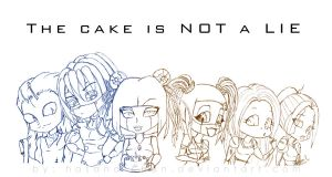 The Cake is NOT a LIE by Hasana-chan