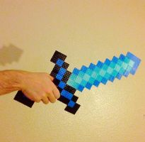 Diamond Sword- Minecraft 2 by xXXxNightShadexXXx