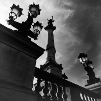 Lamps and Column by OlivierAccart