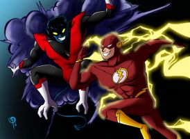 Flash vs Nightcrawler by Chillguydraws