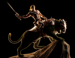 MOTU - He-Man on Battle Cat - 3 by paulrich