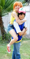 Misty and Ash - Pokemon Cosplay - Happiness by SailorMappy