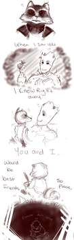 Dont Leave...((GOTG Spoilers!)) by MizzNeon