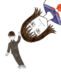 Inktober 2018 4: Mob messing with the Best Girl by Goatllama