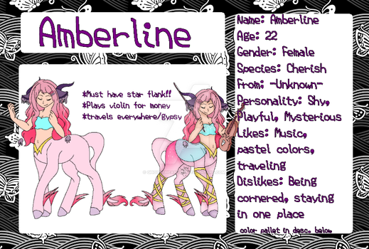 Amberline - Characters by GhoulTheArtist