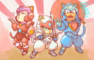 Samurai Pizza Cats by Cairos