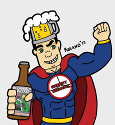Captain Beer Holding A Bottle by chelano