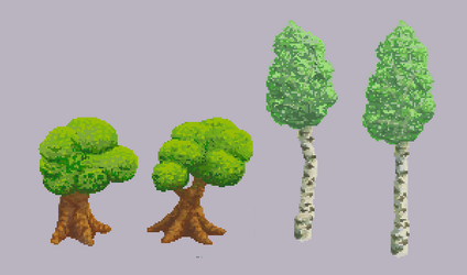 Pixel tree asssets by Pitsuca