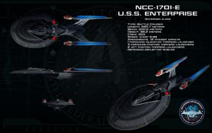 Sovereign class ortho - USS Enterprise 1701-E by unusualsuspex