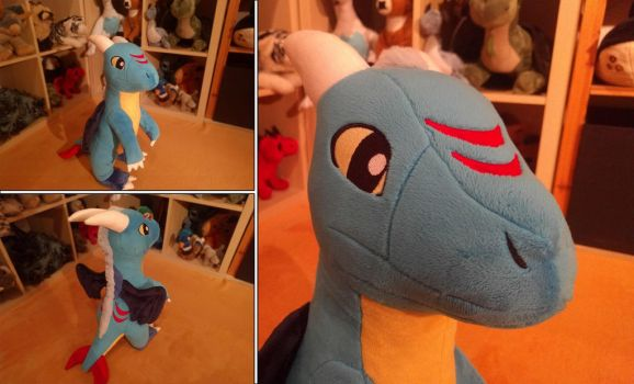 Wintersong: Handmade Dragon Plushie by Fenmar