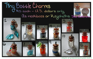 Tiny Bottle Charms 2 - Not for sale anymore by Mari-Kyomo