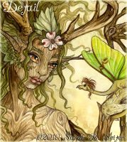 Dogwood Dryad - Detail by MisticUnicorn