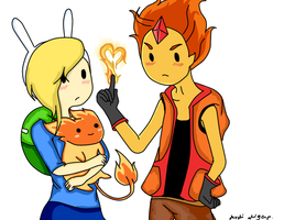 Genderbend: Flame Prince and Fionna by purple23cutie