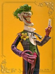 The Joker Leather Sculpture ...My Card by MedusaWood