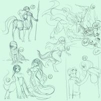 Fantasy Sketchs 00x3 by ManiacPaint