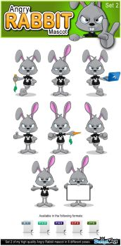 Angry Rabbit Mascot - Set 2 by Npr1977