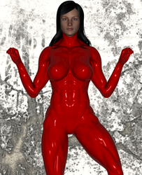 Red Bodybuilding Mannequin Suit 3 by chimatronx