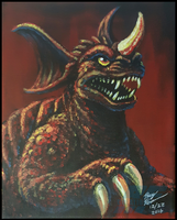 Baragon painting by AlmightyRayzilla