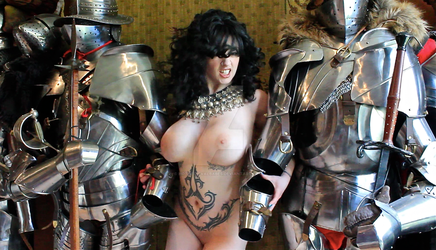 Naked girl with knights by HotMedievalBabes