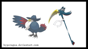 Pokemon Weapons Series Scycrow by Hyperagua