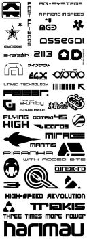 WipEout logos and texts by ollite20